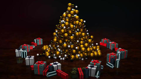 Neo Gold Christmas Tree After Effects Template