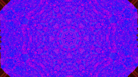 Software generated kaleidoscope, glitched footage, rainbow system error video fx Live Action