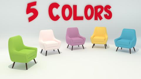 Single Sofa Chair 3D