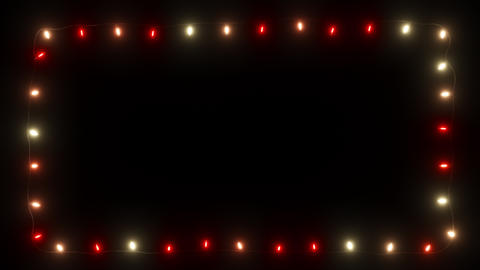 Red and white light Garland with alpha Slow Fade Animation