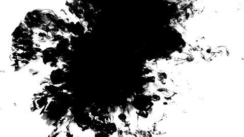 Ink spilled on a transparent background Live Action
