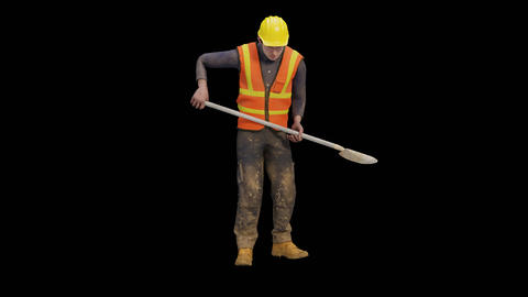 Workman Digging with a shovel GIF