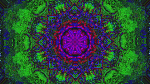 Charming kaleidoscope, abstract bad trip effect flare holographic background Live Action