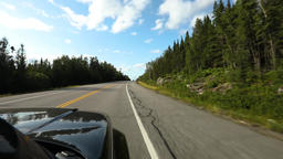 Driving view from black SUV on highway Live Action