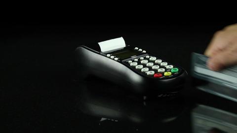 Swiping Credit Card Footage