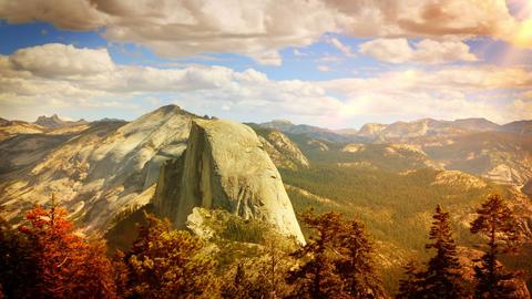 Yosemite Morning Time Lapse Footage