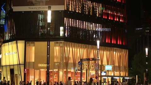 Intersection in Ginza, Tokyo/東京銀座、数寄屋橋交差点。 Footage