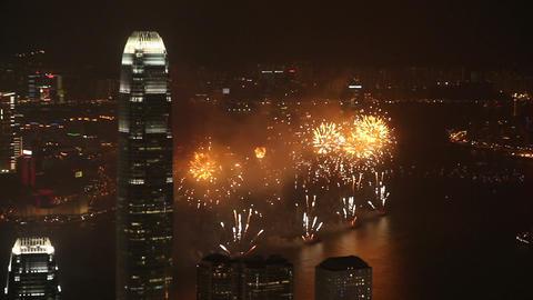 Hong Kong Fireworks Footage