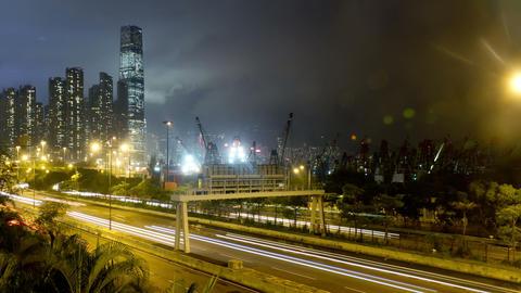 Hong Kong Freeway Time Lapse Footage