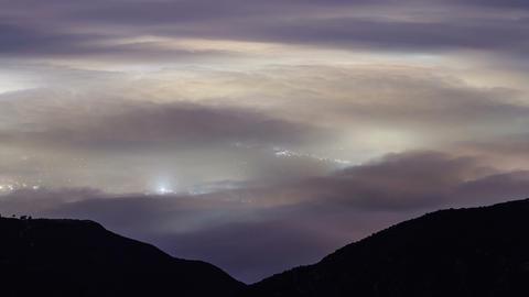 Fog Covers Los Angeles Footage