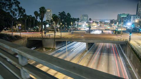 Los Angeles Freeway Hyper Lapse Footage
