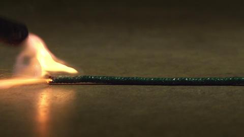 Burning Bomb Fuse Macro Live Action
