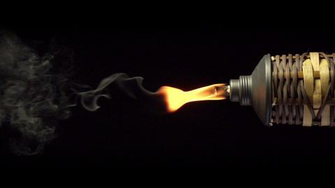 Tiki Torch Slow Motion Footage