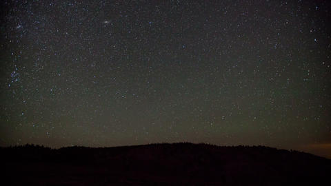 Moonrise Stars Time Lapse Footage