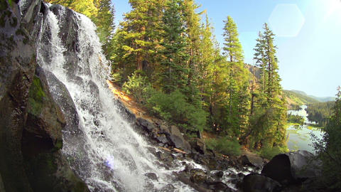 Nature Waterfall Slow Motion Footage
