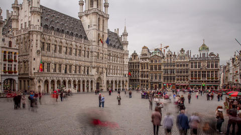 Brussels Belgium Time Lapse Footage