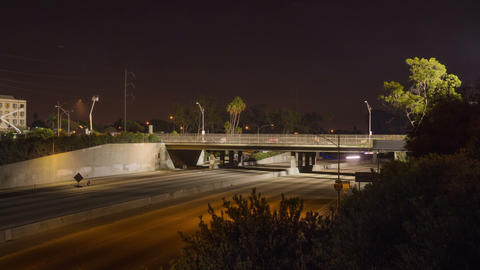 Space Shuttle Crosses the 405 Freeway Footage