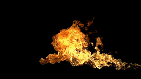 Shooting Fire Element Footage