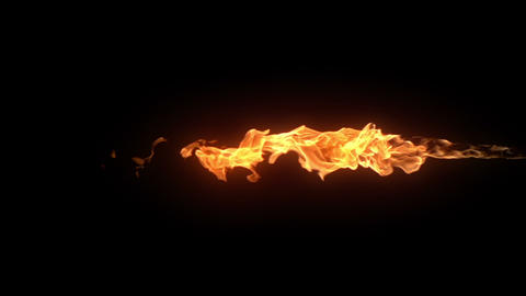Shooting Flames Element Footage