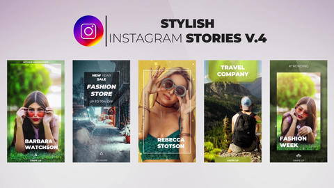 Stylish Instagram Stories v 4 After Effects Template