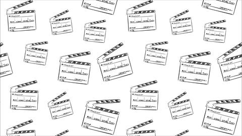 Cinema cracker on white backgrounds Animation