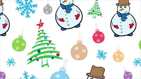 Christmas objects on white background Animation