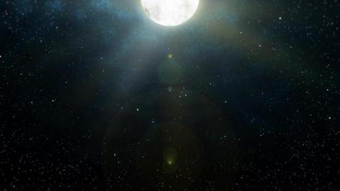 Mov196 moon night sky loop 03 CG動画