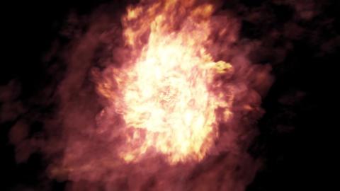 Fire-ball-burst Animation