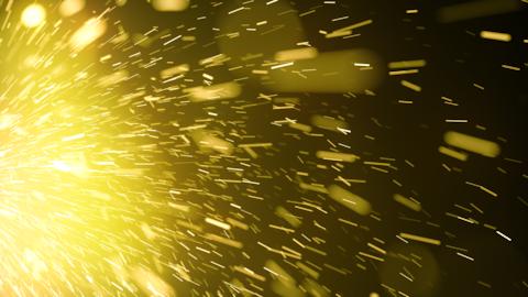 激しい火花(ループ可能) - イエロー/透過背景 CG動画