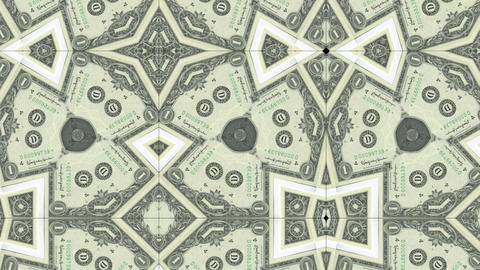 kaleidoscope pattern of dollar banknote, footage ideal for representing money Live Action