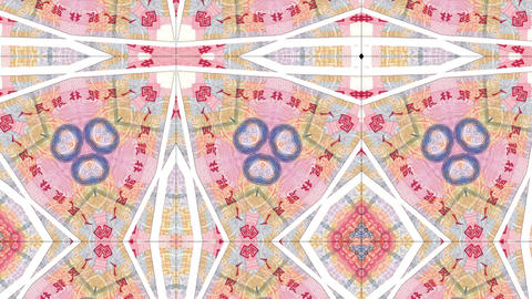 kaleidoscope pattern of Chinese banknote, footage ideal for representing money Live Action