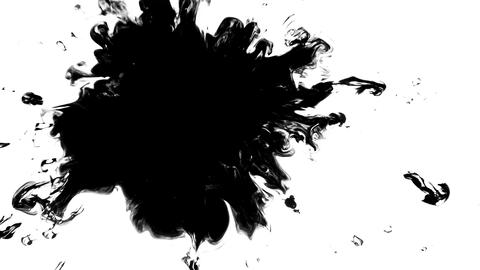 Ink drips onto the alpha channel Live Action