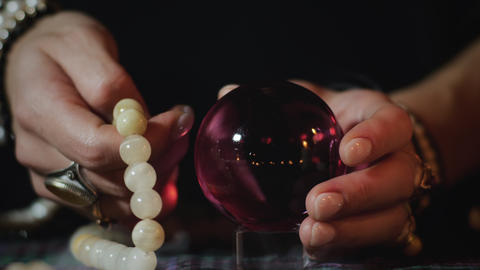 Fortune telling with crystal ball Live Action