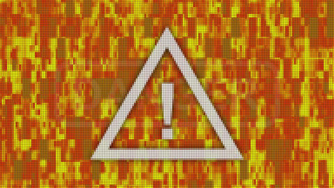 Danger message pixel computer screen animation Animation