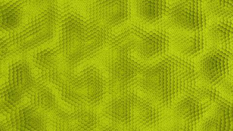 Hexagon moving surface yellow animation background Animation