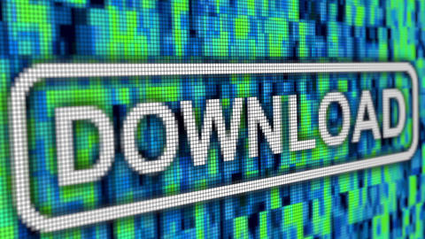 Download complete progressbar message pixel computer screen close up Animation