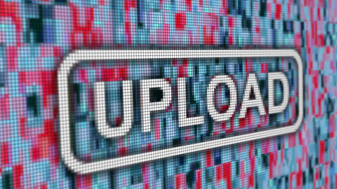 Upload fail message progress bar pixel computer screen animation CG動画
