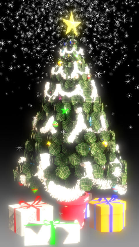 Christmas Tree VerticalHD loop8s Animation