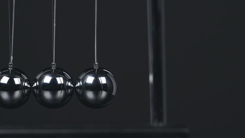 Slow Motion Newton's Cradle Footage