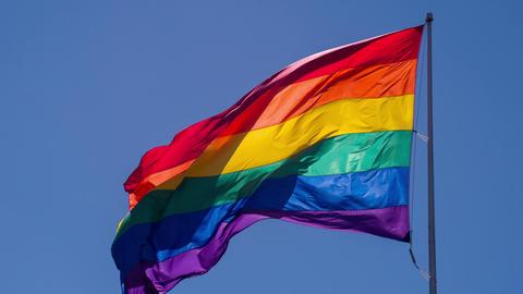 Rainbow Gay Pride Flag Slow Motion Footage