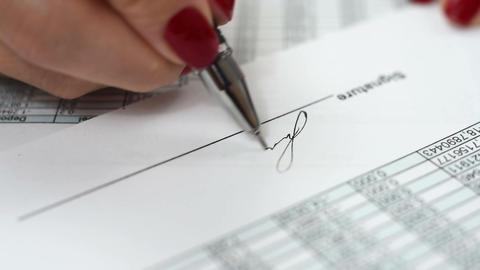 signature of document Footage