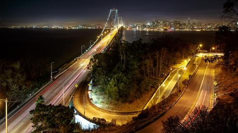 Bay Bridge San Francisco Time Lapse Footage