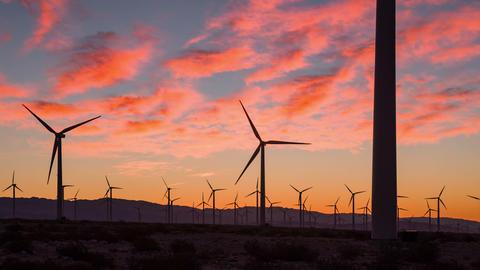 Sunrise Wind Farm California Footage