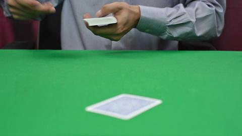 dealer deals the cards Footage
