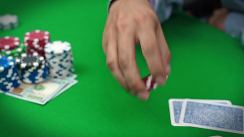 poker player with chips Footage