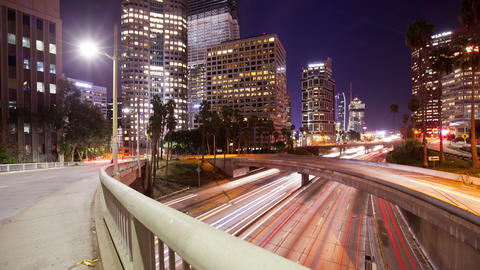 Los Angeles Freeway Time Lapse Footage