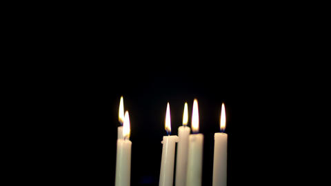 Candles Burning Time Lapse Footage