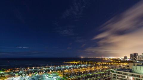 Honolulu Night Time Lapse Footage