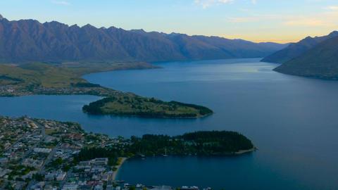 Queenstown New Zealand Twilight Footage