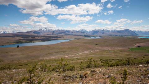 New Zealand Mountain Landscape Time Lapse Footage